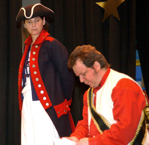 A. Pasquale and P. O'Keefe in Deborah Sampson